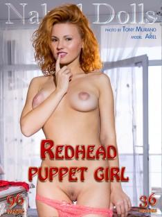 Redhead puppet girl
